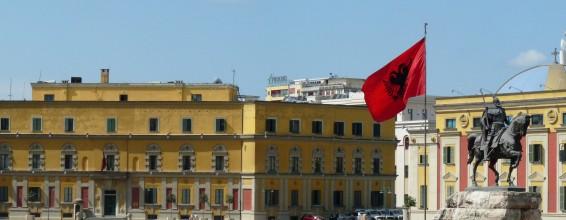 The city of Tirana in Albania