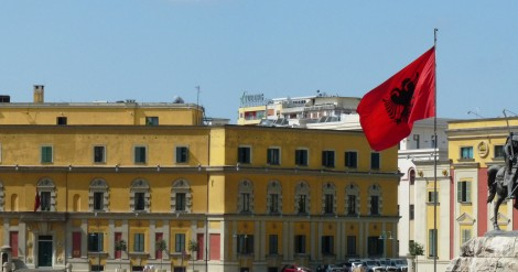 The city of Tirana in Albania